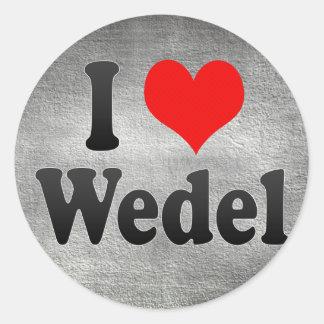I Love Wedel, Germany. Ich Liebe Wedel, Germany Sticker