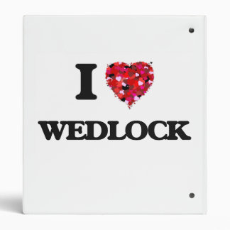 I love Wedlock 3 Ring Binder