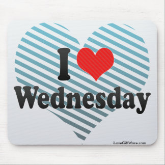 I Love Wednesday Mouse Pad