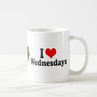 I Love Wednesdays Classic White Coffee Mug