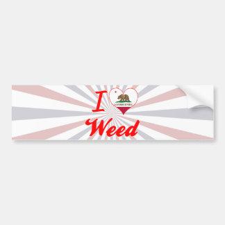 I Love Weed California Bumper Stickers