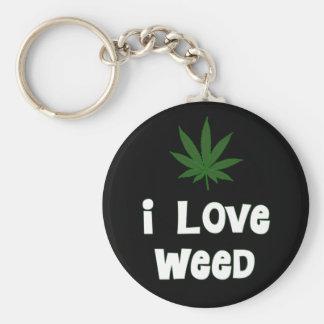 I Love Weed Keychain