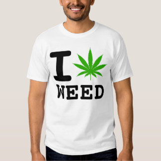 I LOVE WEED T-SHIRTS