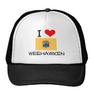 I Love Weehawken New Jersey Mesh Hats