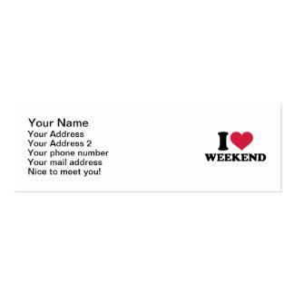 I love weekend mini business card