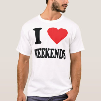 I love weekends icon T-Shirt