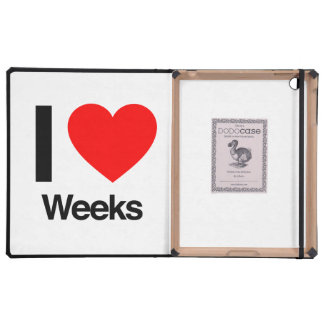 i love weeks iPad case