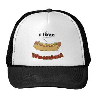 I Love Weenies ~ Hot Dogs Trucker Hat