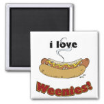 I Love Weenies ~ Hot Dogs Magnet