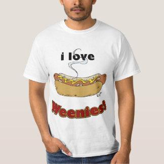 I Love Weenies ~ Hot Dogs T-Shirt