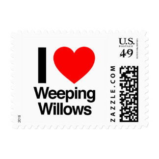 i love weeping willows stamp