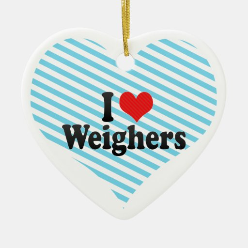 I Love Weighers Christmas Tree Ornament
