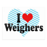 I Love Weighers Post Cards