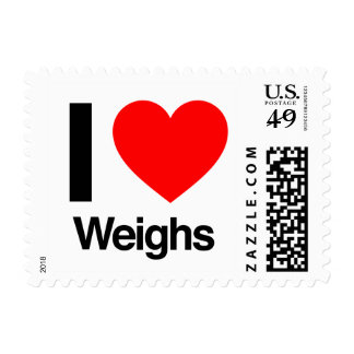 i love weighs postage