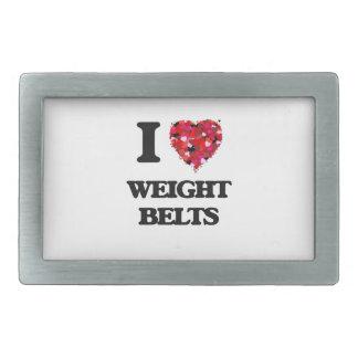 I love Weight Belts Rectangular Belt Buckles