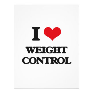 """I love Weight Control 8.5"""" X 11"""" Flyer"""