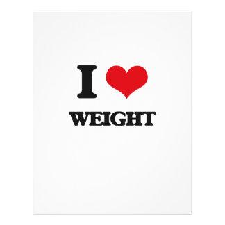 "I love Weight 8.5"" X 11"" Flyer"