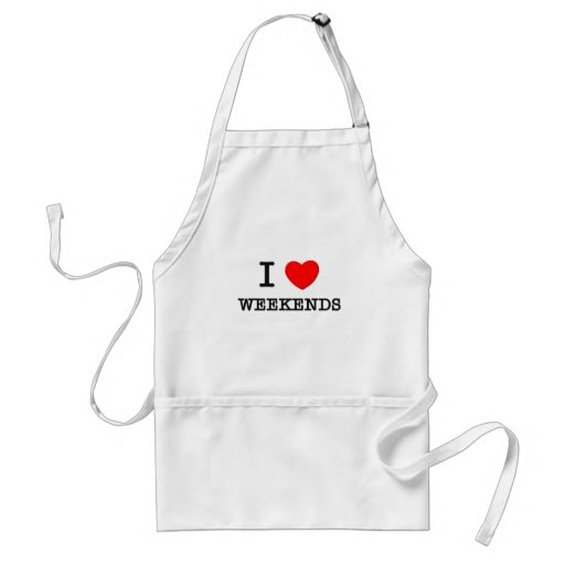 I Love Weight Lifting Adult Apron
