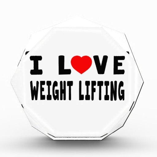 I Love Weight Lifting Award