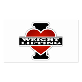 I Love Weight Lifting Business Card
