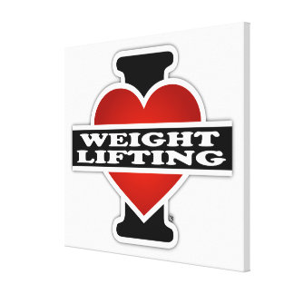 I Love Weight Lifting Canvas Print