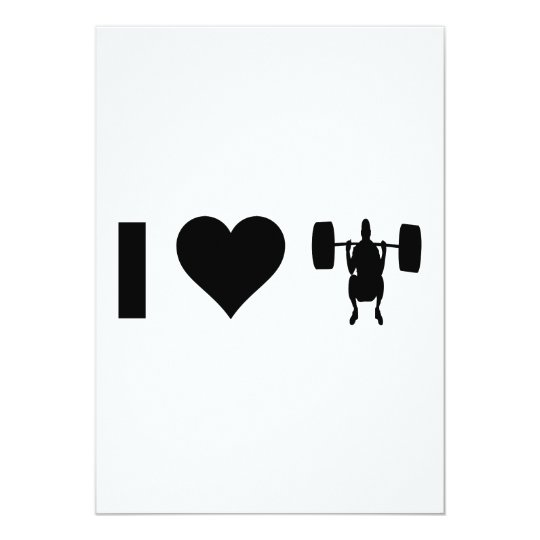I Love Weight Lifting Card