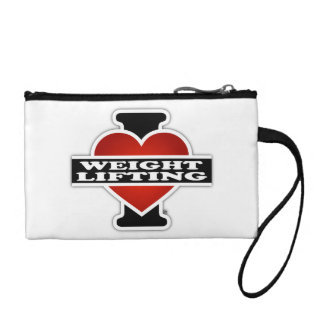 I Love Weight Lifting Coin Wallet