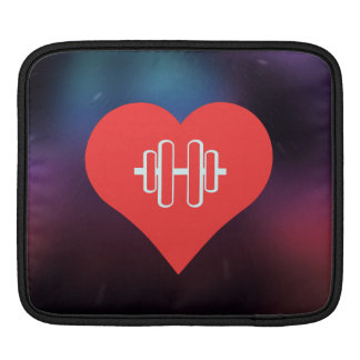 I Love Weight Lifting Cool Icon Sleeve For iPads