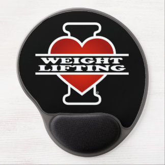 I Love Weight Lifting Gel Mouse Pad