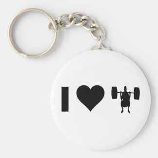 I Love Weight Lifting Keychain