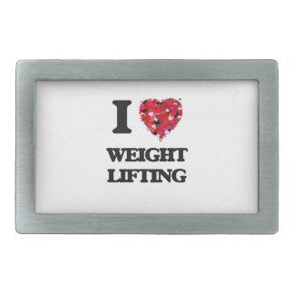 I love Weight Lifting Rectangular Belt Buckles