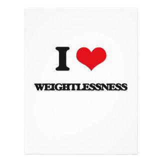 "I love Weightlessness 8.5"" X 11"" Flyer"