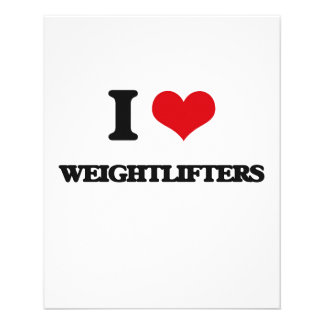 """I love Weightlifters 4.5"""" X 5.6"""" Flyer"""
