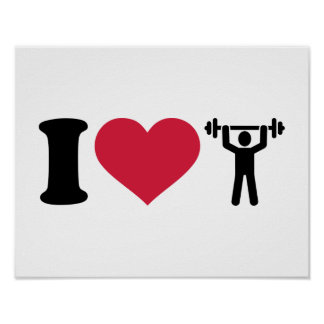 I love Weightlifting Poster