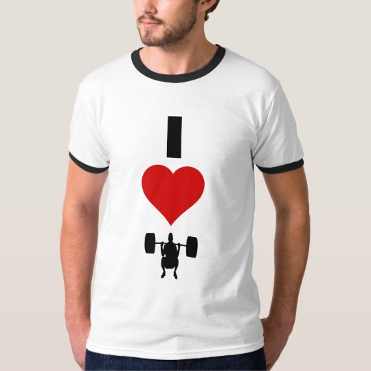 I Love Weightlifting (Vertical) T-Shirt