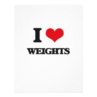 "I love Weights 8.5"" X 11"" Flyer"
