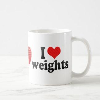 I Love weights Mug