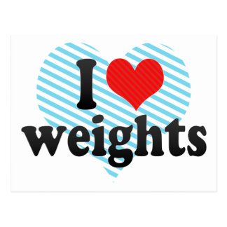 I Love weights Post Card