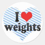 I Love weights Sticker