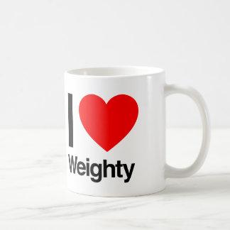 i love weighty coffee mug