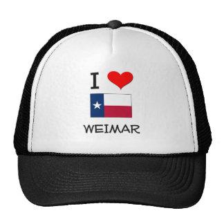 I Love Weimar Texas Mesh Hat