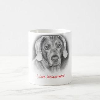 I love Weimaraners Classic White Coffee Mug