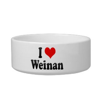 I Love Weinan, China. Wo Ai Weinan, China Cat Food Bowl
