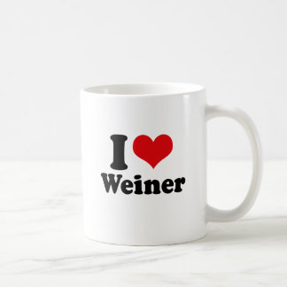I LOVE WEINER COFFEE MUG