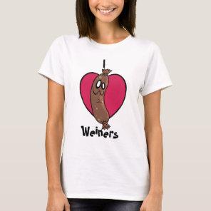 I Love Weiners Top