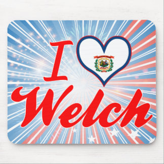 I Love Welch, West Virginia Mouse Pads