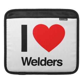 i love welders iPad sleeve