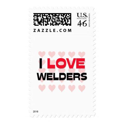 I LOVE WELDERS POSTAGE STAMP