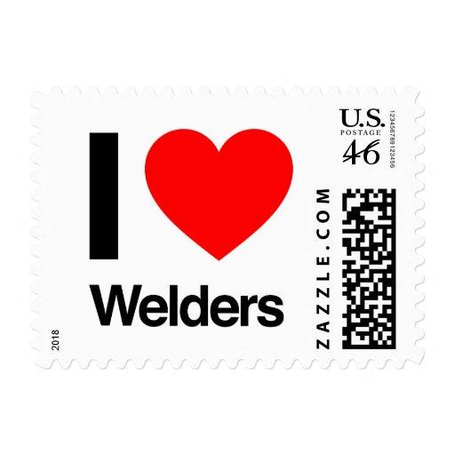 i love welders postage