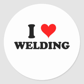 I Love Welding Classic Round Sticker